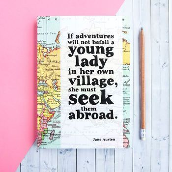 Jane Austen Adventure Quote Travel Journal