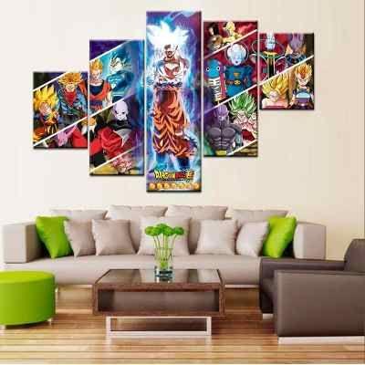 Cuadros Dragon Ball Super In 2020 Dragon Ball Gallery Wall Dragon