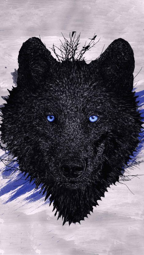 Black Wolf Paint Iphone Wallpaper Free Getintopik Best Nature Wallpapers Face Art Nature Wallpaper