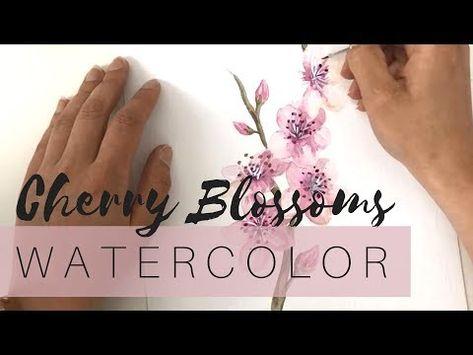 Kirschbluten Aquarell Madchenkunst Mit Bildern Aquarellbild