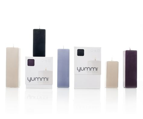 Square Pillar Candles Are BACK! New Sizes now available. Shop Now at www.YummiCandles.com