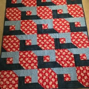 Mystery Quilt With 3 Fabrics Created With Quilt Guild Quilted On My Domestic Quilts Mystery Quilt Quilt Patterns