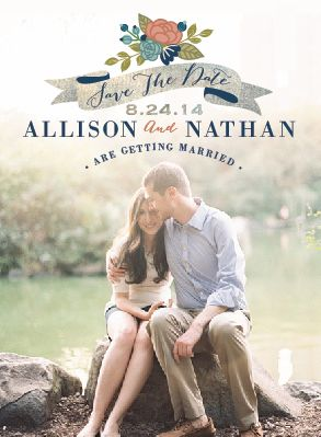 save the date cards - love always
