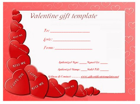 Heart wish gift certificate template Beautiful Printable Gift - free christmas voucher template