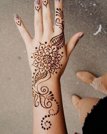 henna #harkous #arabic #art #paint #black #red #lovely #pretty ...