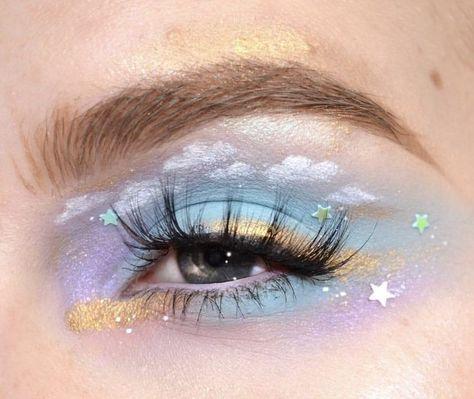 Cute Makeup Looks, Makeup Eye Looks, Eye Makeup Art, Crazy Makeup, Pretty Makeup, Eyeshadow Makeup, Eyeliner, Stunning Makeup, Eyeshadows