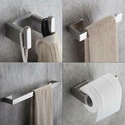 Advertisement 4 Piece Towel Bar Set Bath Accessories Bathroom Hardware Bathroom Accessories Sets Brushed Nickel Bathroom Stainless Steel Bathroom Accessories