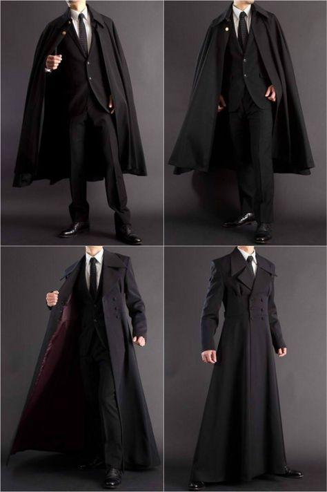 Formal Wear Men/'s Cape Black Victorian Cloak M XXL Wedding Prom Lining Wine Red