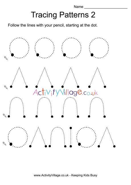 Tracing Patterns 2 Pattern Worksheet Tracing Worksheets Preschool Kindergarten Worksheets