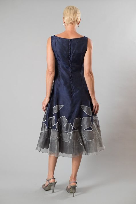 30d9e7e87f2 Living Silk - specializing in navy dresses and two piece outfits with  sleeves for the modern