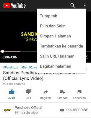 Cara Download Mp3 Dari Youtube Tanpa Aplikasi Lagu Video Youtube