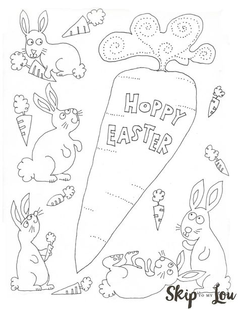 da170d59e3e3e2302a9ea75b4f149bf9 bunny coloring pages hoppy easter