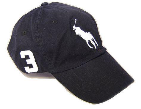 Men`s Leather Strap Embroidered Chino Baseball Cap - Polo Black -  CP12EN6SB1D - Hats   Caps 533677220e7
