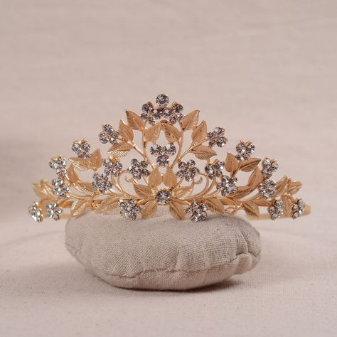 Fashion Bride Baroque Leaf Crown Headband New