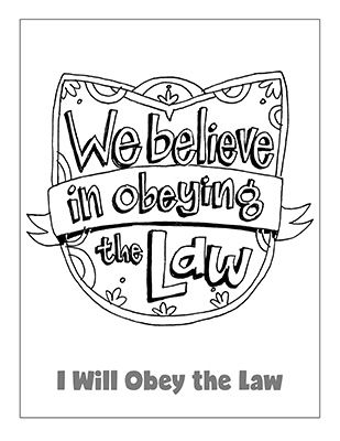 Primary 2 Lesson 31 We Believe In Obeying The Law Coloring Page