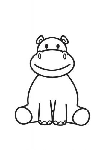 Hippo Drawing Easy Drawings Baby Hippo Coloring Pages Baby Posters Circus Animals Coloring Page Hippopoamus Easy Drawings Hippo Drawing Baby Posters