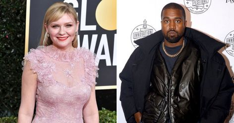 Kirsten Dunst Reacts To Her Face Being Used By Kanye West In Presidential Campaign And She S Very Confused In 2020 Kanye West Kirsten Dunst Celebs