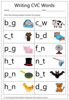 Free Printable Cvcc Worksheets