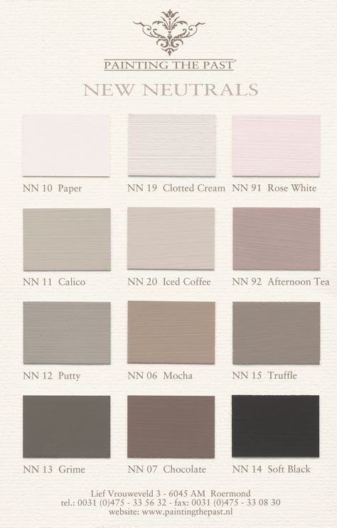 New Neutrals by Painting the Past