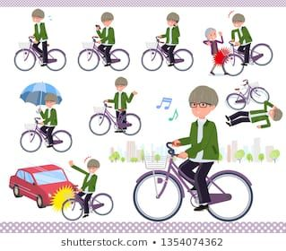 A Set Of Businessman Riding A City Cycle There Are Actions On