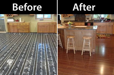 Marvelous Featured Job   Heated Wood Kitchen Floor | HeatMyFloors.com | Updating A  1970s Or 80s House | Pinterest | Kitchen Floors, Woods And Kitchens