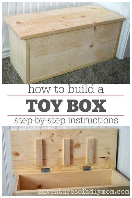 How To Build A Toy Box Learn To Build A Small Toy Box Step By Step Instructions Including Materials List And C In 2020 Wooden Toy Boxes Diy Toy Box Diy Furniture