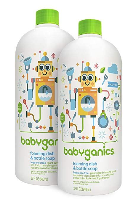 Mom Deal Babyganics Foaming Dish And Bottle Soap Refill 2 Pack