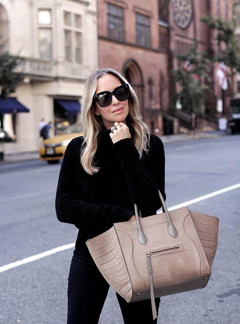 October 2, 2017 Fall Style: The White Loafer - Knit: Marbled | Denim: MOTHER | Loafers: Chanel | Bag: Celine Phantom | Sunglasses: Celine 'Tilda'