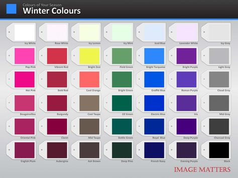 winter Color Palette | Colour Palette | Image Matters Asia