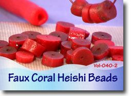 Faux Coral Heishi Beads | Polymer Clay Tutorial