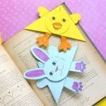Easter Corner Bookmarks - Bunny And Chick Template - Easy Peasy and Fun