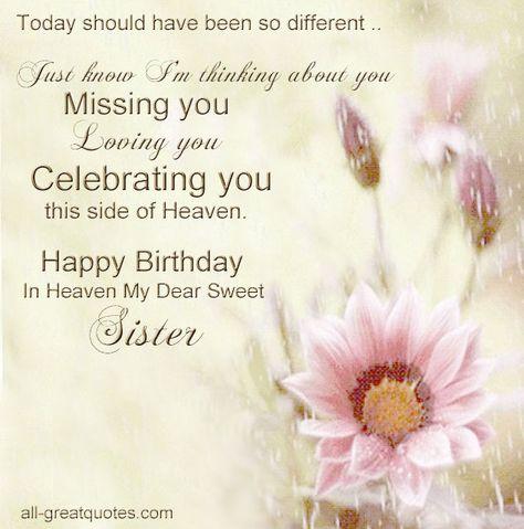 Happy Birthday In Heaven My Dear Sweet Sister