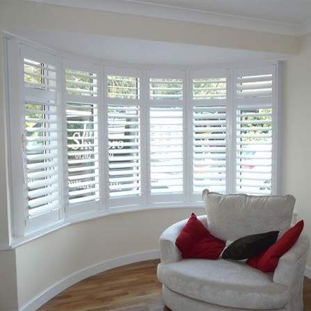 66mm panel curved windows full height panels with 89mm slats with mid rail and hidden rod visit pinterest window