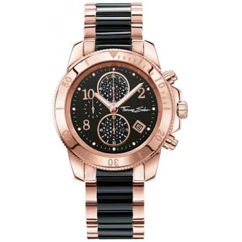 Best Seller Thomas Sabo Women's Watch Glam Chrono Rose Gold Black Analogue Quartz