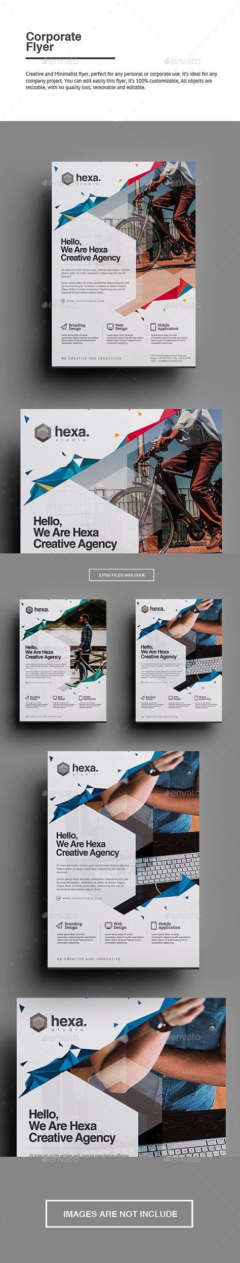 Corporate Flyer Template PSD #design Download: http://graphicriver.net/item/corporate-flyer-/13593769?ref=ksioks