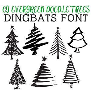 Silhouette Design Store Tree Doodle Silhouette Design Dingbat Fonts