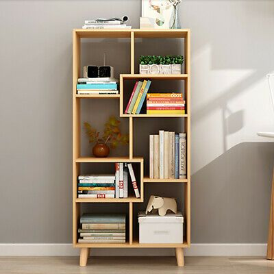 Wooden Bookcase Shelving Display Unit 8 Cube Bookshelf Stand Storage Cabinet Uk Ebay Bookcase Wooden Bookcase Bookshelf Storage