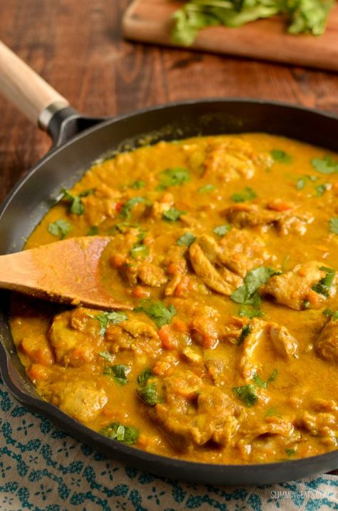 Slimming Eats - Slimming World Recipes Coconut Chicken and Sweet Potato Curry (Stove Top and Instant Pot)