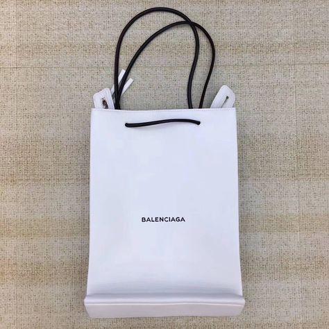 9aed1075f0 Balenciaga Calfskin Medium Long North-South Shopping Bag White 2017 ...
