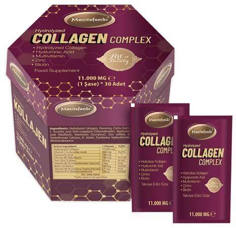 Mecitefendi Hidrolize Kollajen Kompleks Fiyat 30 Indirimle Collagen Collagen Peptides Hydrolyzed Collagen