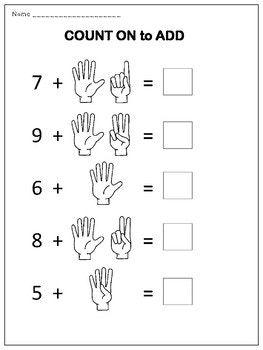 Counting On Addition Worksheets Addition Worksheets Kindergarten Worksheets Printable Kindergarten Math Worksheets Addition Math worksheets for junior kindergarten