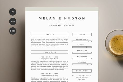 Complete resume pack for MS Word ( resume, cover letter, and - popular resume templates