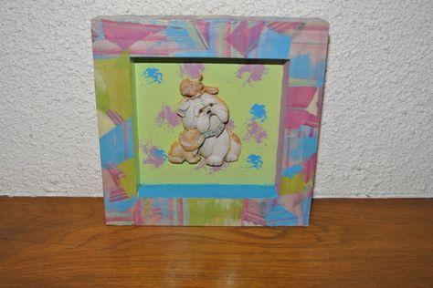 Papier De Riz Décoration image 3d tableau décoré en peinture et papier décopatch   décoration