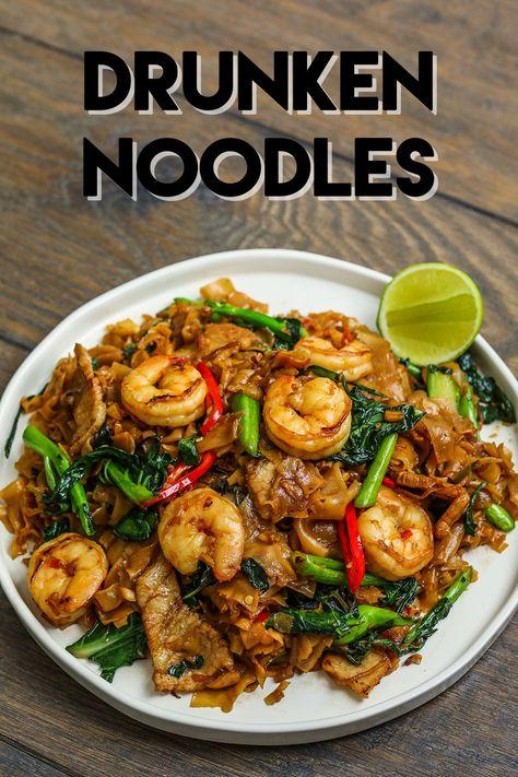 The BEST Drunken Noodles Recipe  Video - Seonkyoung Longest