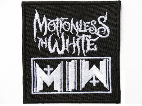 MOTIONLESS IN WHITE MIW Iron On Sew On Metal Band Embroidered Patch