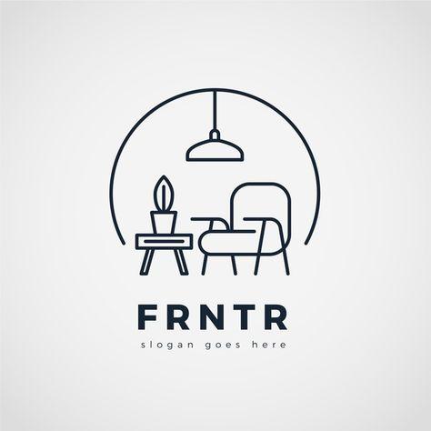 Minimalist Furniture Logo Background