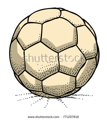 Cartoon Image Of Soccer Ball Icon Football Symbol An Artistic Freehand Picture Soccer Ball Soccer Cartoon Images