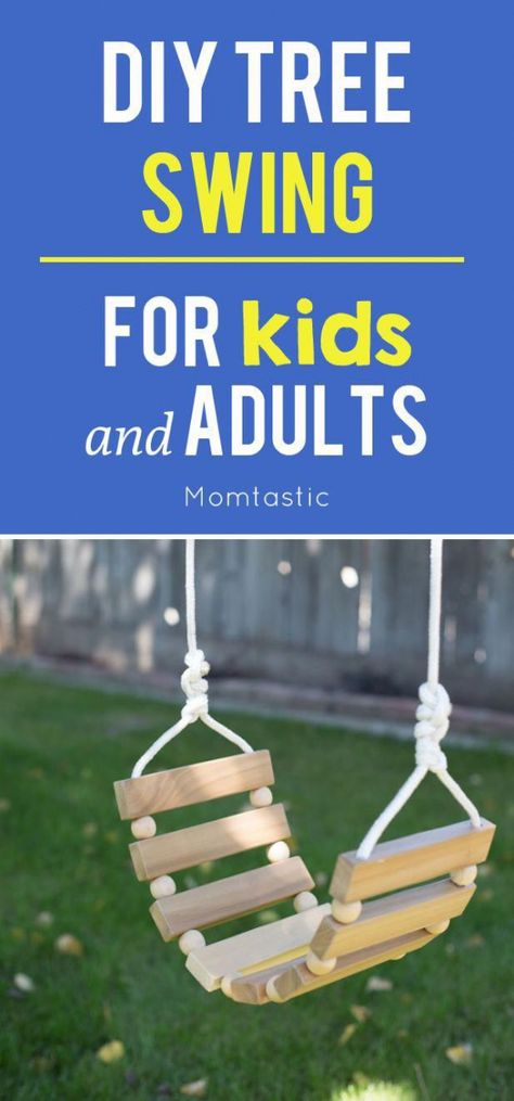 DIY backyard tree swing for kids AND adults! #kidswoodcrafts