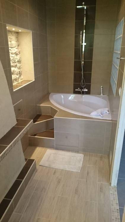 baignoire beige prime salle bain