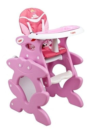 High Chair With Play Table Conversion Pink Play Table Midcentury Modern Dining Chairs High Chair
